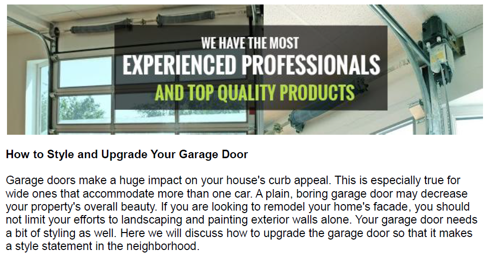 How to Style and Upgrade Your Garage Door - Garage Door Repair Southlake